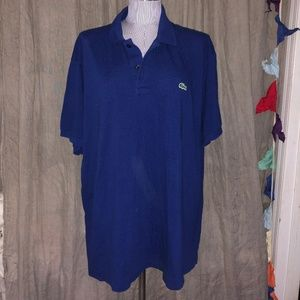Lacoste royal blue pique cotton mens polo shirt 9